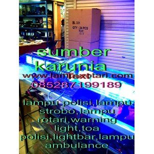 lampu rotator polisi biru 12v