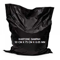 Kantong Plastik Hitam 50x75cmx0.05mm 1