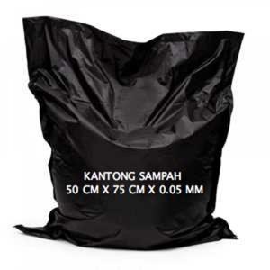 Kantong Plastik Hitam 50x75cmx0.05mm