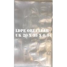 KANTONG PLASTIK LDPE ORI CLEAR 20 X 35 X 0.04