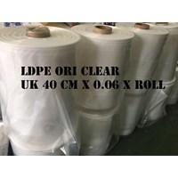 PLASTIK ROLL LDPE ORI CLEAR UK.40 X 0.06 X ROLL