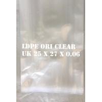 Dari KANTONG PLASTIK LDPE ORI CLEAR uk.25 X 27 X 0.06 0