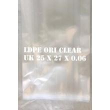 KANTONG PLASTIK LDPE ORI CLEAR uk.25 X 27 X 0.06