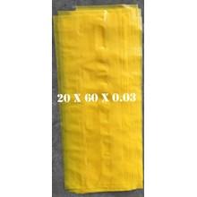 KANTONG PLASTIK LDPE ORI KUNING uk.20 X 60 X 0.03