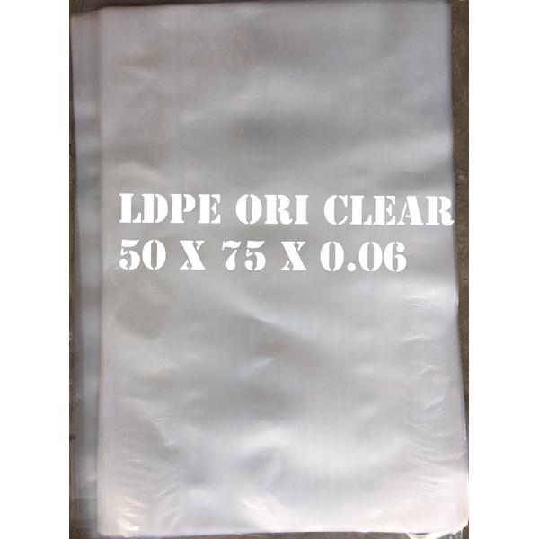 KANTONG PLASTIK LDPE ORI CLEAR 50cm X 75cm X 0.06mm