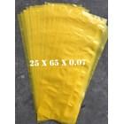 KANTONG PLASTIK LDPE ORI KUNING uk.25 X 65 X 0.07 1