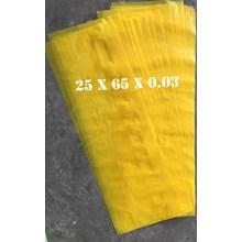 KANTONG PLASTIK LDPE ORI KUNING uk.25 x 65 x 0.03