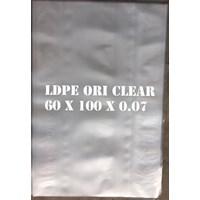KANTONG PLASTIK LDPE ORI CLEAR uk.60 X 100 X 0.07