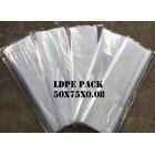 KANTONG PLASTIK LDPE PACK ORI CLEAR UK.50 X 75 X 0.08 1