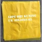 KANTONG PLASTIK LDPE ORI KUNING uk.40 X 40 X 0.05 1