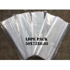 KANTONG PLASTIK LDPE PACK ORI CLEAR uk.50 X 75 X 0.05 1