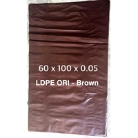KANTONG PLASTIK MEDIS LDPE ORI COKLAT uk.60 x 100 x 0.05