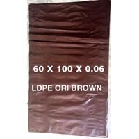 KANTONG PLASTIK MEDIS LDPE ORI COKLAT uk.60 X 100 X 0.06