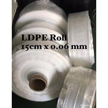 PLASTIK LDPE ROLL ORI CLEAR UK.15 X 0.06mm