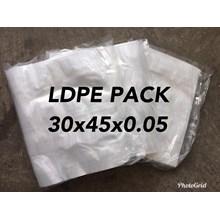KANTONG PLASTIK PACK LDPE ORI CLEAR UK.30 X 45 X 0