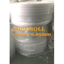 PLASTIK ROLL LDPE ORI CLEAR UK.17 X 0.05mm X ROLL