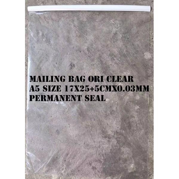 AMPLOP PLASTIK CLEAR POLOS  A5 SIZE