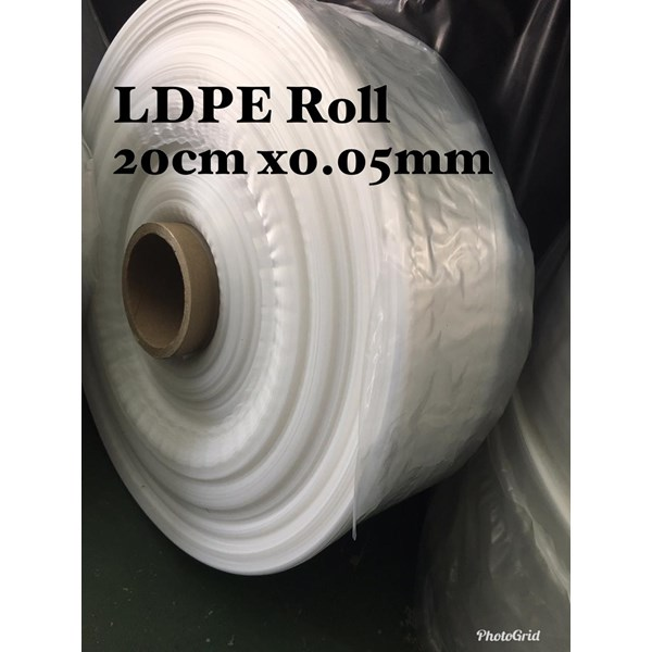 PLASTIK ROLL CLEAR ORI UK.20 X 0.05 X ROLL