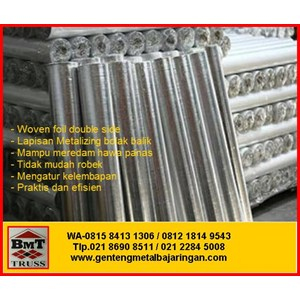 Aluminium Foil Woven Metalizing Foil Double Side
