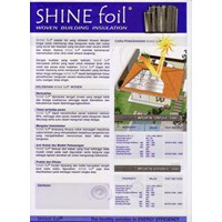 Jual Aluminium Foil Shine Foil Woven Metalizing Single Side  2