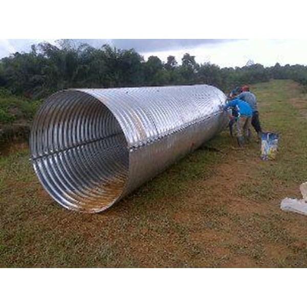 Pipa Gorong Gorong Baja Nestable Flange E-100