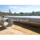 CORRUGATED STEEL PIPE NESTABLE FLANGE E 100 2