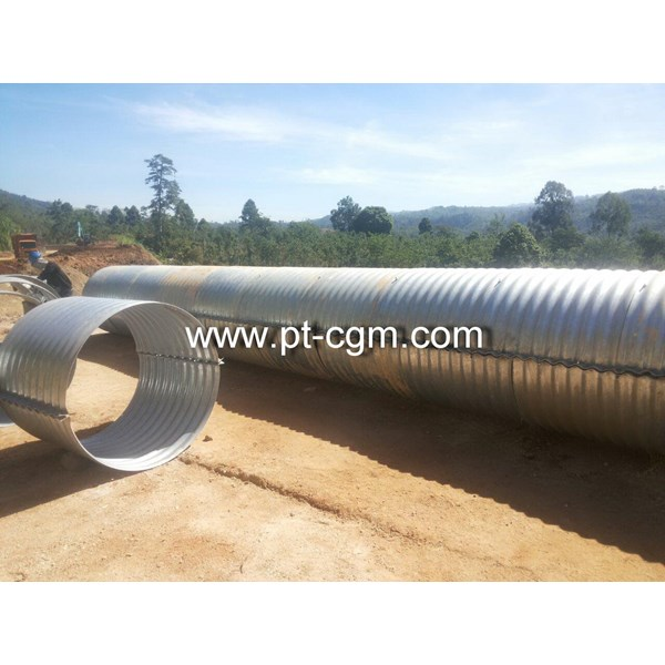 CORRUGATED STEEL PIPE NESTABLE FLANGE E 100