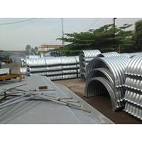 Corrugated Steel Pipe Armco atau Pipa Gorong Gorong Baja Galvanis