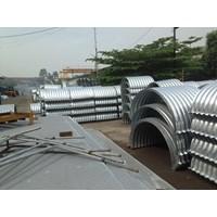 Jual Corrugated Steel Pipe Armco atau Pipa Gorong Gorong Baja Galvanis