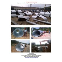 Armco steel Nestable type flange and multi plate pipe