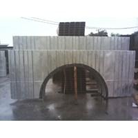 Sayap wingwall headwall armco bahan baja