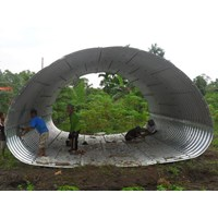 Corrugated Steel Armco Type Multi Plate Pipe Arches bulat oval