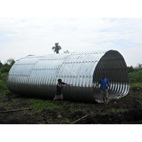 Corrugated Steel Pipe Type Multi Plate Pipe Arches Murah 5