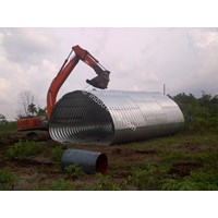 Jual Corrugated Steel Pipe Type Multi Plate Pipe Arches