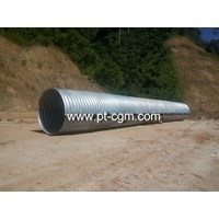 Corrugated Steel Pipe type Nestable Flange E-100