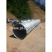 Culverts Corrugated Steel Pipe type Nestable Flang