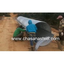 Culverts Corrugated Steel Pipe type Nestable Flange