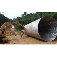 Jual Corrugated Steel Pipe Armco Type Multi Plate Pipe