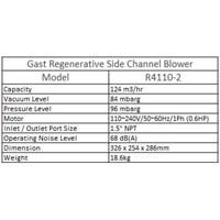 Jual Gast Regenerative Side Channel Blower R 4110-2 2