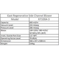 Jual Gast Regenerative Side Channel Blower R7100A-3  2