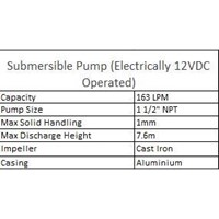 Jual Submersible Pump ( Electrically 12VDC Operated ) 2