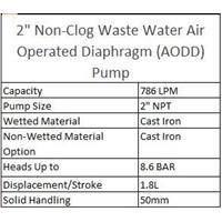 Jual AODD Pump 2 Inch Non-Clog Waste Water  2