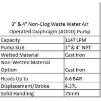 Jual AODD Pump 3 & 4 Inch Non-Clog Waste Water  2