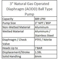 Jual  AODD Ball Type Pump 3 Inch Natural Gas  2