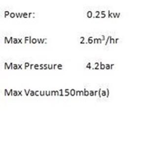 From GAST DIAPHRAGM  VACUUM PUMP DOA-P504-BN   1