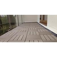 Distributor Lantai Outdoor Wpc Decking Tile Splus 3
