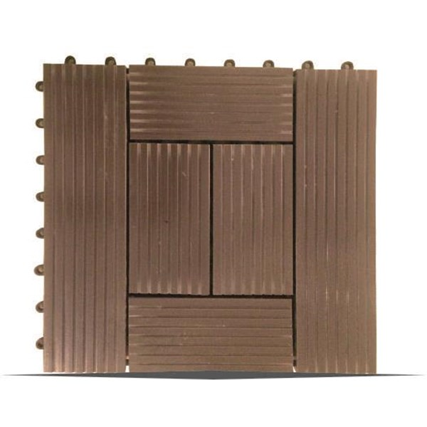 Lantai Outdoor Wpc Decking Tile Splus