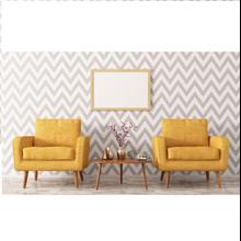 Wallpaper Dinding Motif Zig Zag