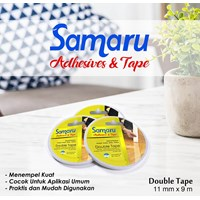 Samaru Tape - Double Tape 11 Mm - White- Tape Adhesive 1