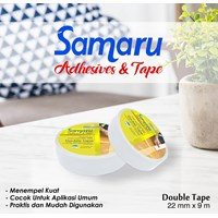 Samaru Tape - Double Tape 22 Mm - White- Tape Adhesive 1